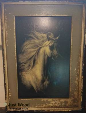 ПОСТЕР Ethnic Java Grey Image Horse