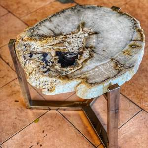 КОФЕЙНЫЙ СТОЛИК FOSSIL ROUND TABLE 010